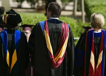 graduate students in regalia