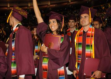 ASU students graduating